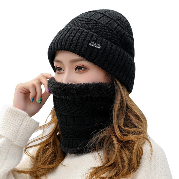 솔리드 비니+넥워머 세트_남여공용 겨울모자