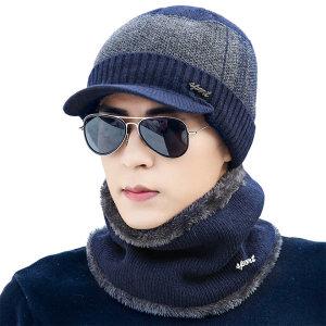 투톤 캡비니+넥워머 세트_남여공용 겨울모자