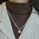 실버925 굵은 자물쇠 목걸이 남자 여자 볼드목걸이 7돈