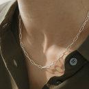 클립 레이어드 은목걸이 초커목걸이 골드도금 목걸이