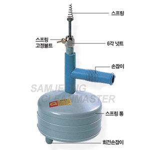 스프링청소기 15m 하수구막힘 화장실변기뚫어 관통기