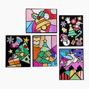 크리스마스 포일아트 - 산타눈사람 / 어린이 초등