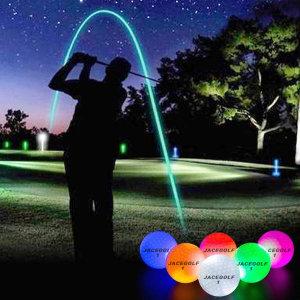 제이스 밝게 빛나는 고반발 LED 골프공 야간라운딩 발