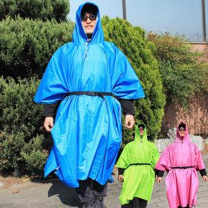 패스톤 판초우의 등산우의 레인코트 낚시 우비 비옷