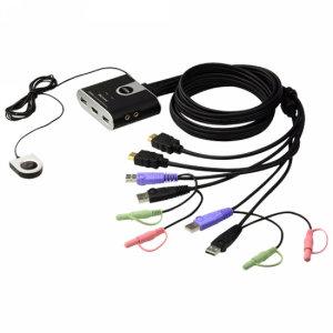 에이텐 CS692 ATEN 2포트 HDMI KVM스위치 오디오일체