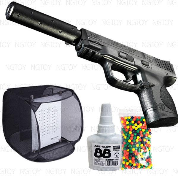 세트.MP9C 사일런서+혼합탄900발+슈팅타겟 비비탄권총