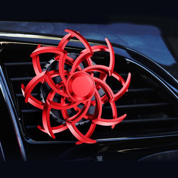 TKB 회전하는 차량용 눈꽃방향제 송풍구형 레드