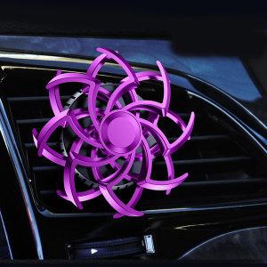 TKB 회전하는 차량용 눈꽃방향제 송풍구형 퍼플