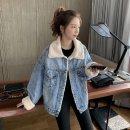 여성 청자켓 무스탕 뽀글이 오버핏 아우터 겨울 XC32