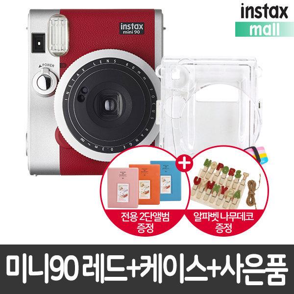 미니90 레드/폴라로이드카메라 +케이스+사은품