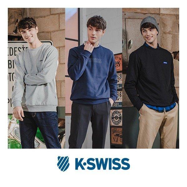 K-SWISS 20FW 소프트웜 기모맨투맨 3종SET(남)