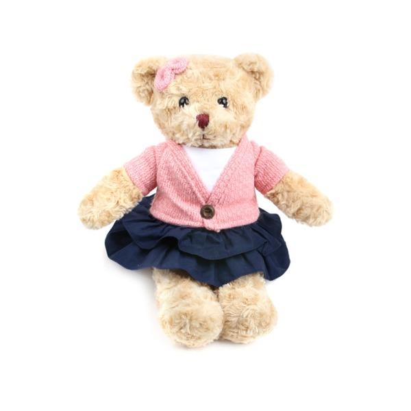 가디건테디 여아_대형(핑크)-곰인형 테디베어 봉제
