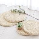 라탄 원형 방석 50 여름 식탁 의자 벤치 매트
