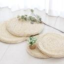 라탄 원형 방석 40 여름 식탁 의자 벤치 매트