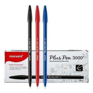 모나미 수성펜 프러스펜 3000 0.3mm 12자루 플러스펜