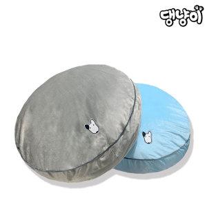 댕냥이 반려동물 애견 극세사 원형방석 블루/그레이