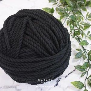 마크라메 재료 순면 블랙 로프 90-150합(80야드)