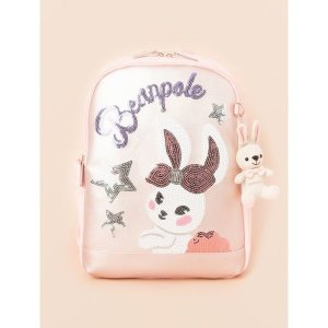 BEANPOLE KIDS  라이트 핑크 여아 스팽글 책가방 (BI11D4G02Y)