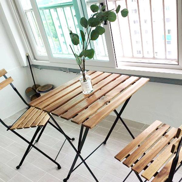 이케아 TARNO 야외테이블 55x54 아카시아나무
