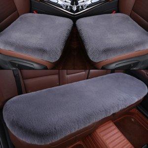 차량용방석 셀럽 자동차시트 겨울수달 토끼털 등받이X