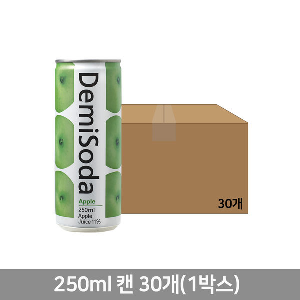 데미소다 애플 250ml 캔 30입 (1박스) 무료배송
