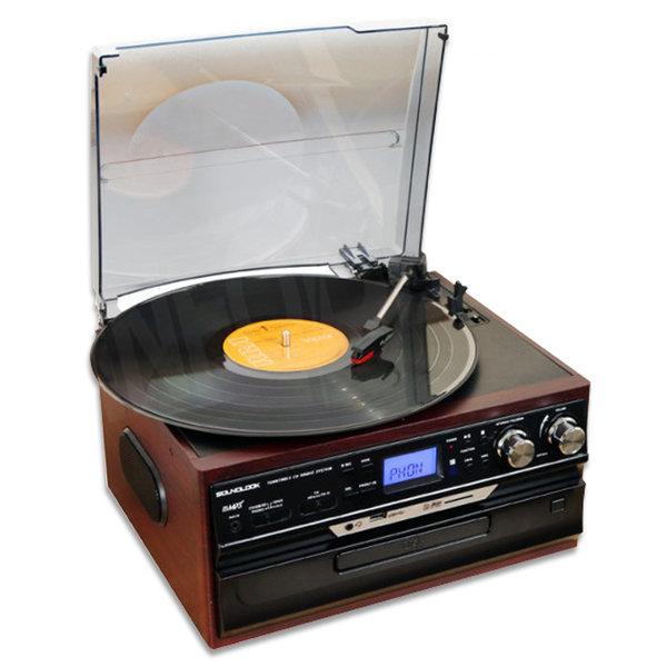 사운드룩 LP 턴테이블 CD 플레이어 라디오 SLT-3080