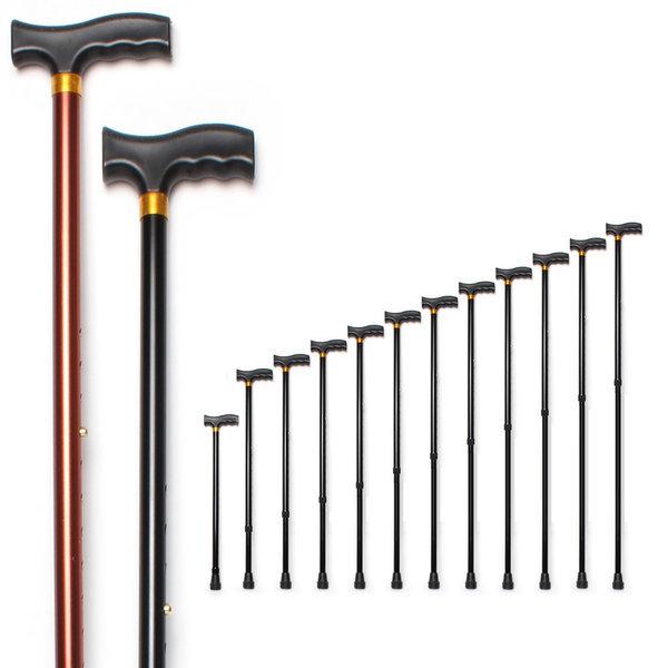효도지팡이 고급형 실버 노인 보행 지팡이 11단조절