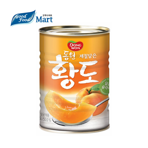 동원 황도 슬라이스 400g (1캔) 4만원이상 무료배송