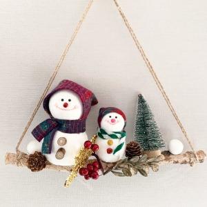 눈사람가랜드/크리스마스/모빌/DIY/셀프인테리어/