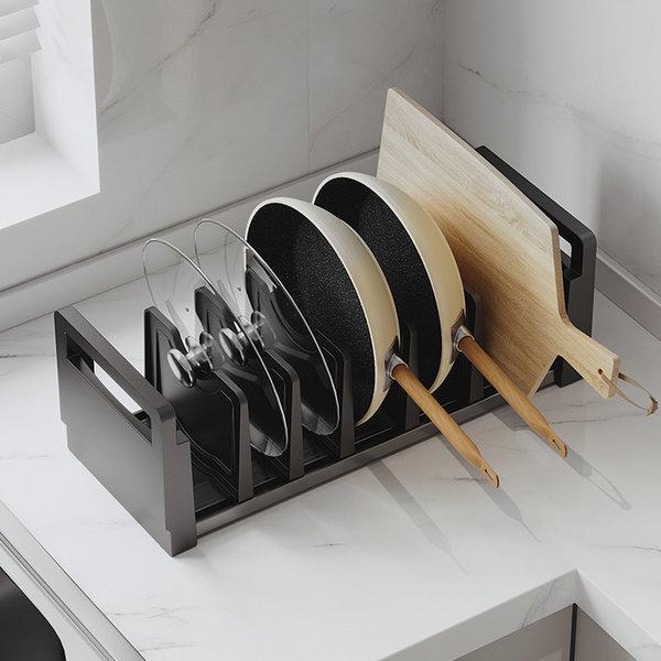 주방용품 다용도 스탠드형후라이팬 그릇정리대 옵션1