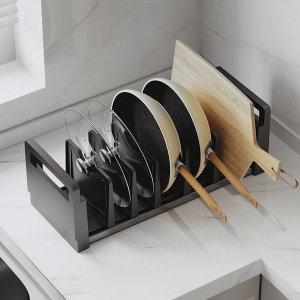 주방용품 다용도 스탠드형후라이팬 그릇정리대 옵션3