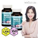 오메가3와 비타민D EPA+DHA 1200 12개월(2병)미국수입