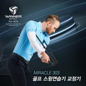 백스윙 아이언 골프 스윙연습기 자세교정 미라클 303