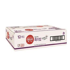 cj햇반 흑미밥 210g x 12개입 1box