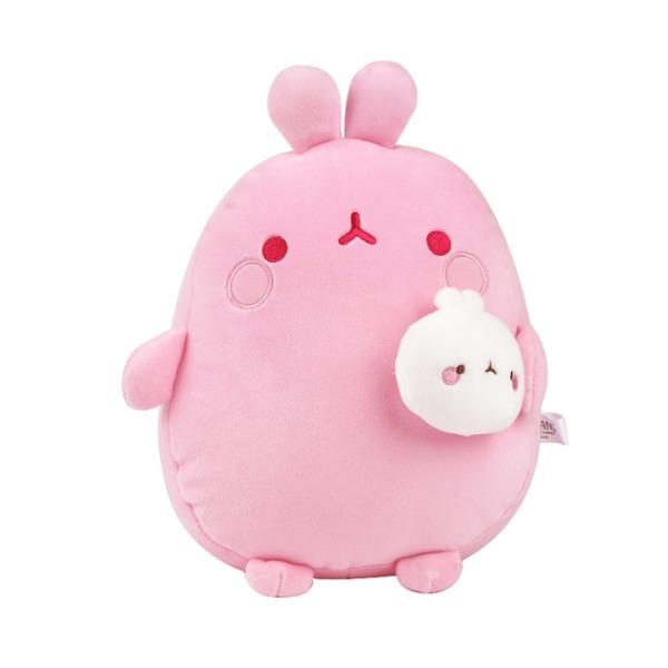 몰랑 피우납작소프트 봉제인형_핑크-토끼인형