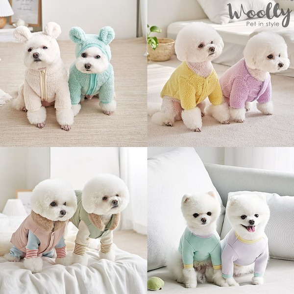 울리2020 F/W 강아지 의류 모음전 패딩 올인원 티셔츠