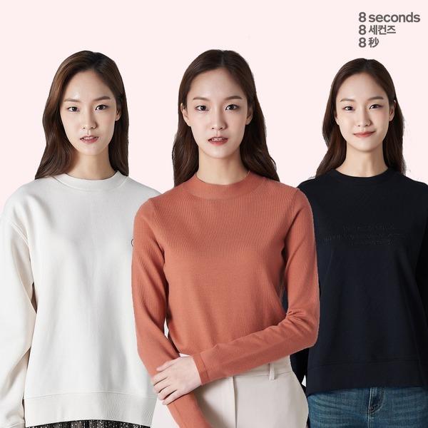 에잇세컨즈 니트/가디건/티셔츠/후드/스커트+15%