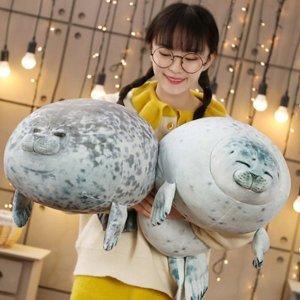 하프 물범 물개 바다표범 쿠션 모찌 인형 대형 60cm