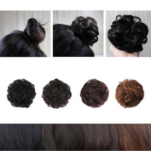 곱창 당고머리 부분 가발 똥머리 올림 머리 머리끈