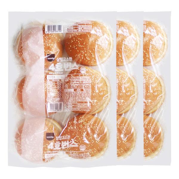 삼립 햄버거빵 3봉(총 18개입)/햄버거재료 수제버거