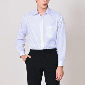 I2015/화이트 남성 트윌 솔리드 와이셔츠