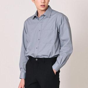 I2016/그레이 남성 트윌 솔리드 와이셔츠