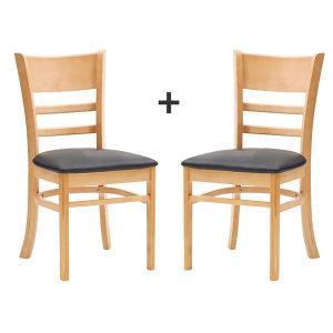 캐빈네추럴의자 식탁 식당 카페 업소용 가정용(1+1)