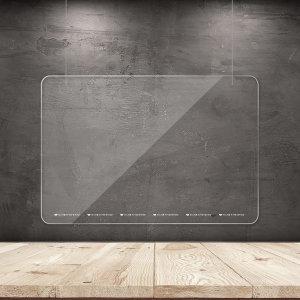 천장 와이어 가림막 투명 패트 칸막이 중 800x600mm