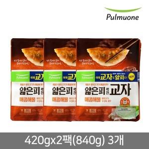 얇은피 교자만두 매콤해물 420g 6봉