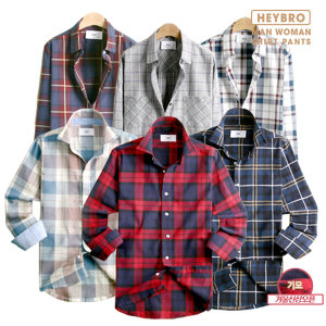 겨울신상 기모/체크/솔리드/모직/와이셔츠/셔츠/남방