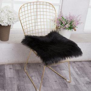 럭셔리 퍼 방석 인테리어 의자 거실 소파 털방석