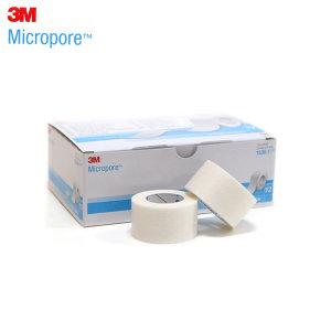 3M 의료용 종이테이프12롤(2.54cmx9.14m) 흰색