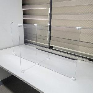 비대면 투명 가림막 십자개방형 4인용 1200 맞춤제작