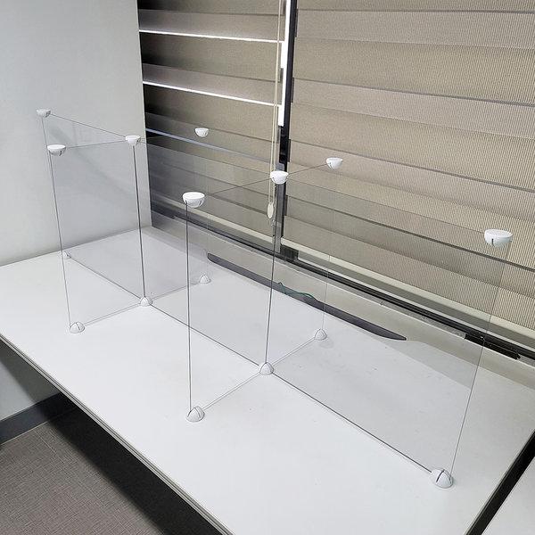 비대면 투명 가림막 십자개방형 6인용 1800 맞춤제작